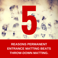 5 Reasons Permanent Entrance Matting Beats a Throw-Down Mat