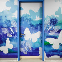 Butterfly Wall & Door Mural for St Michael's Hospital Mortuary